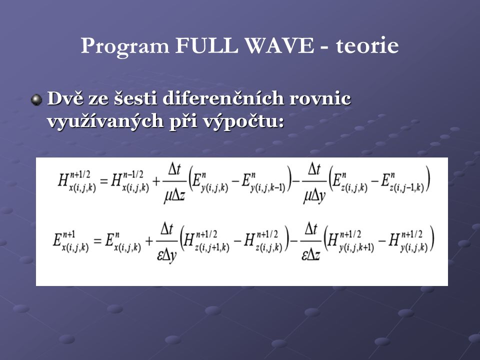 Program FULL WAVE - teorie