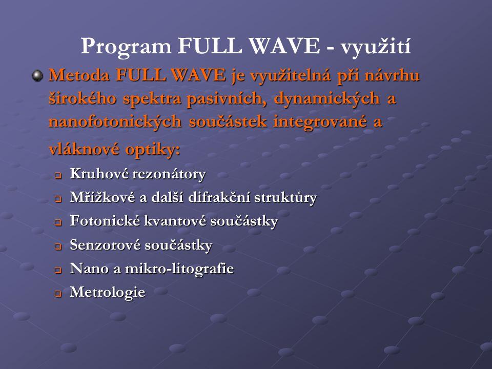 Program FULL WAVE - využití