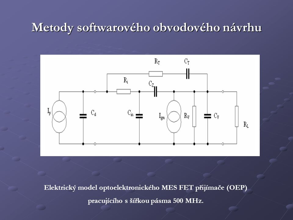 Metody softwarového obvodového návrhu