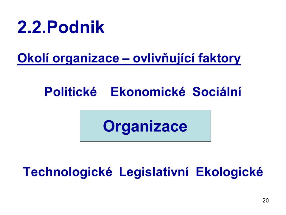Politické Ekonomické Sociální Technologické Legislativní Ekologické