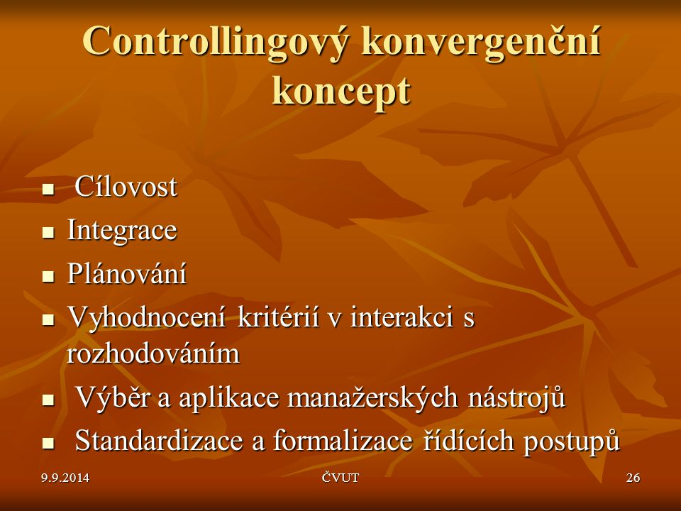 Controllingový konvergenční koncept