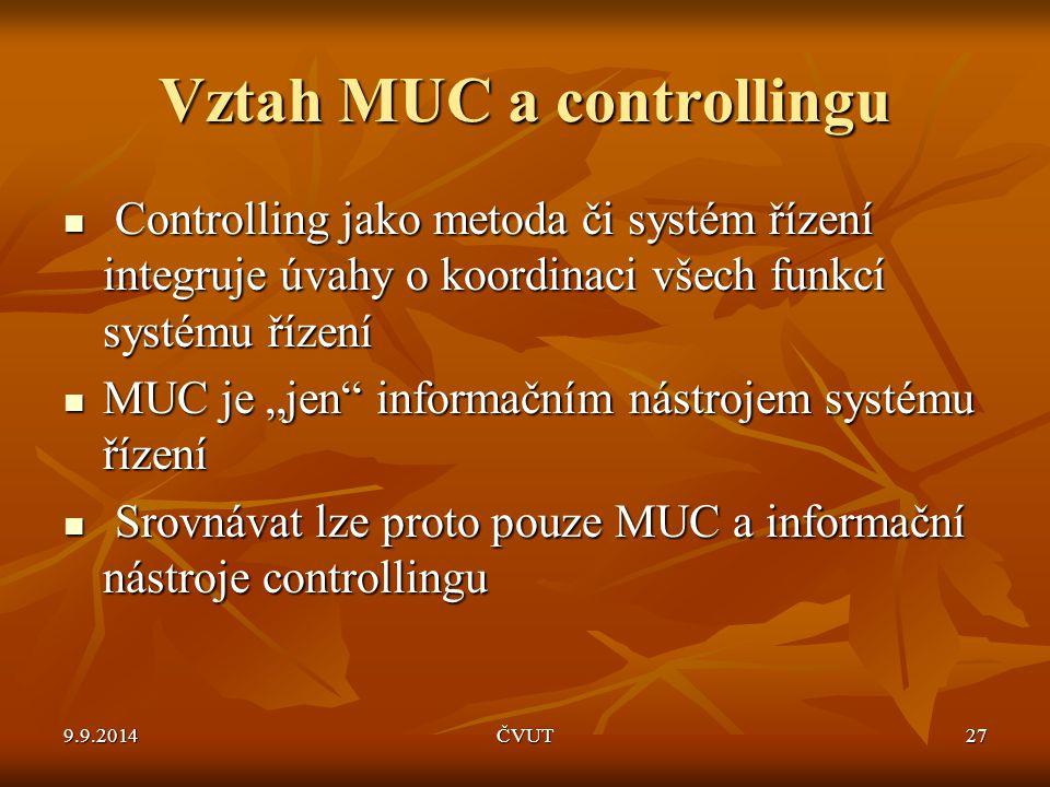 Vztah MUC a controllingu