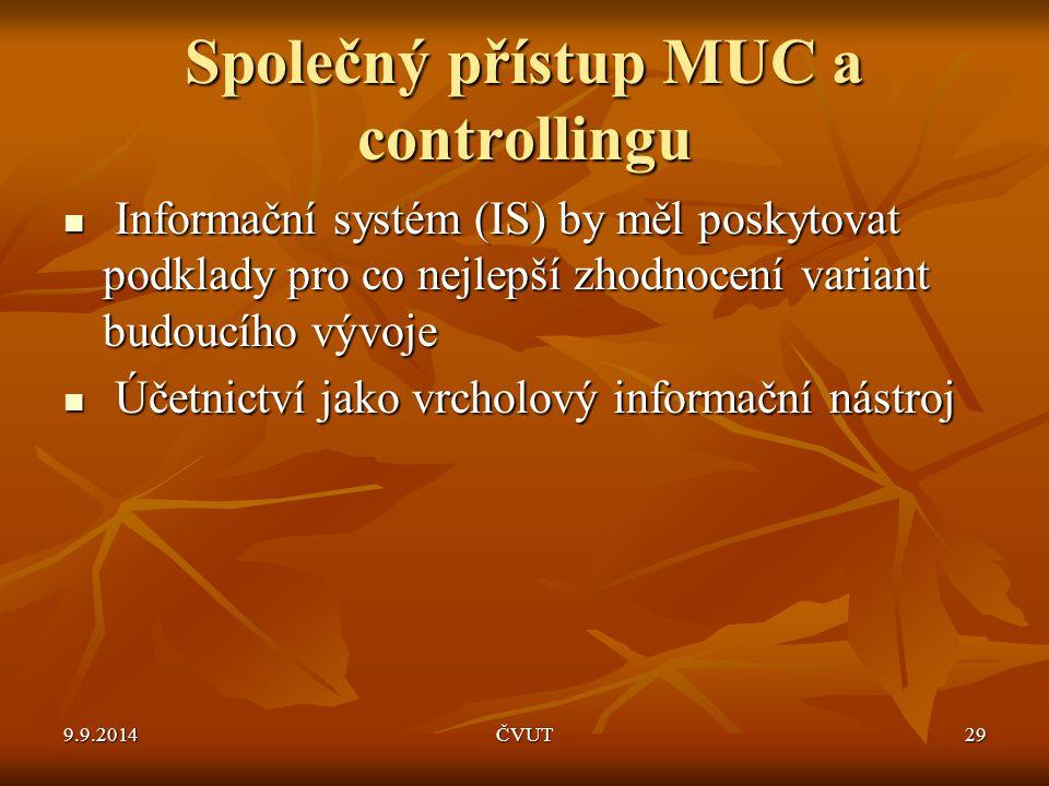 Společný přístup MUC a controllingu