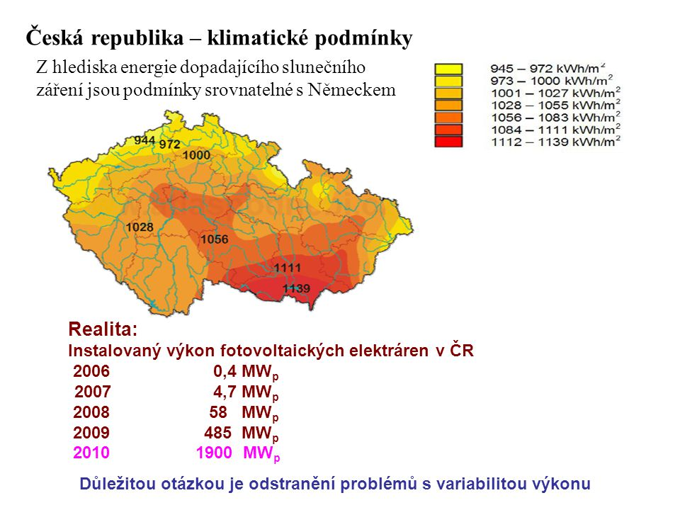 Česká republika – klimatické podmínky