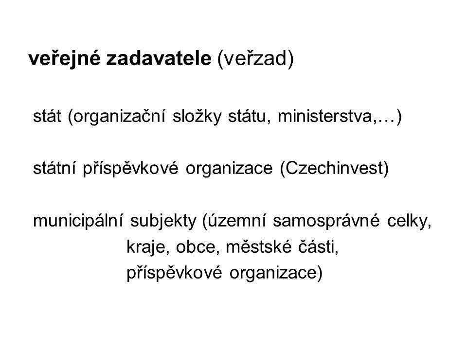veřejné zadavatele (veřzad)