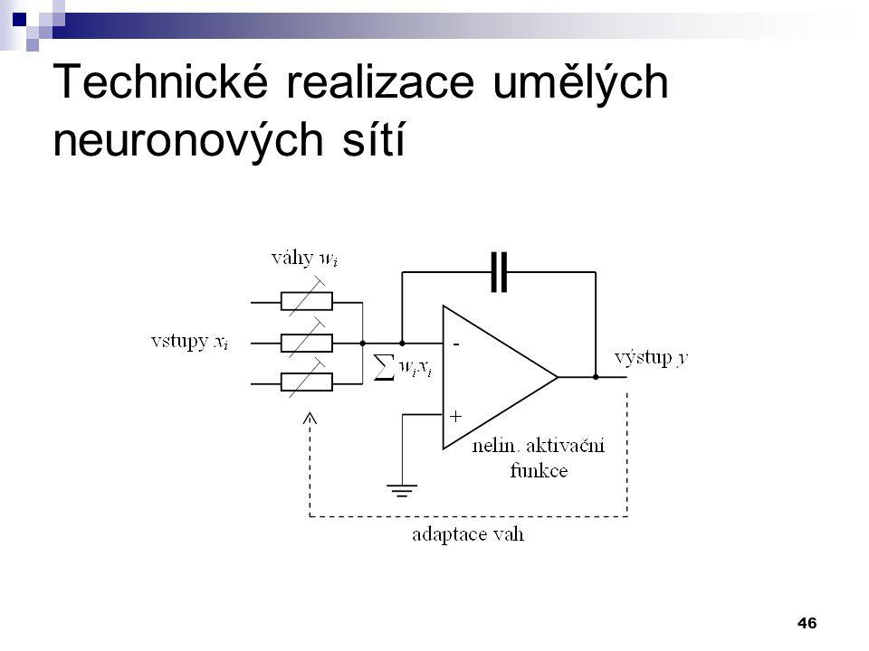Technické realizace umělých neuronových sítí