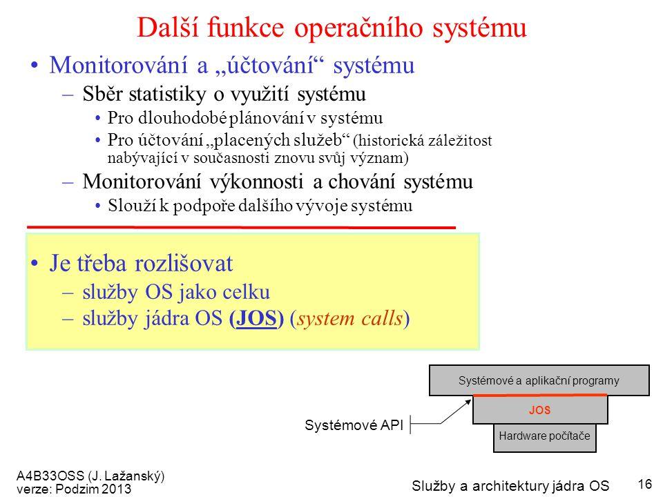 Další funkce operačního systému