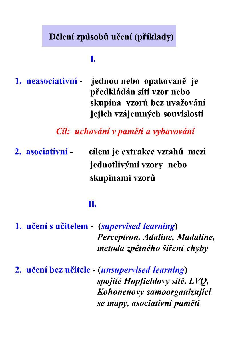 Dělení způsobů učení (příklady)