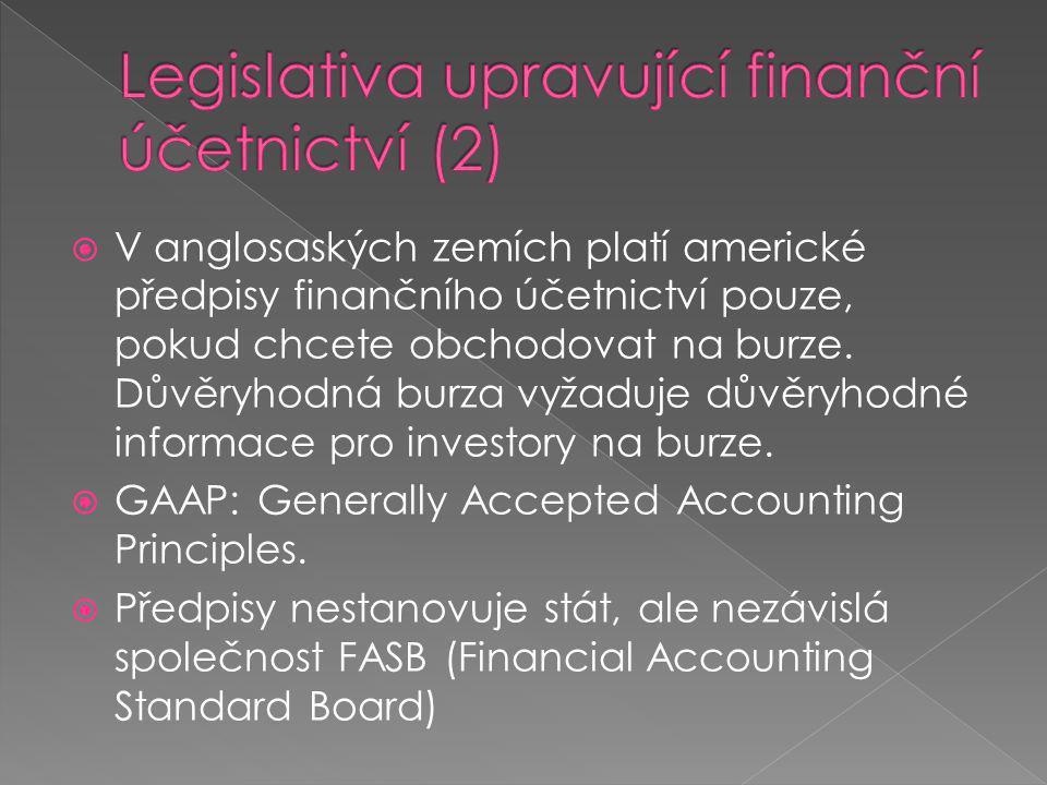 Legislativa upravující finanční účetnictví (2)