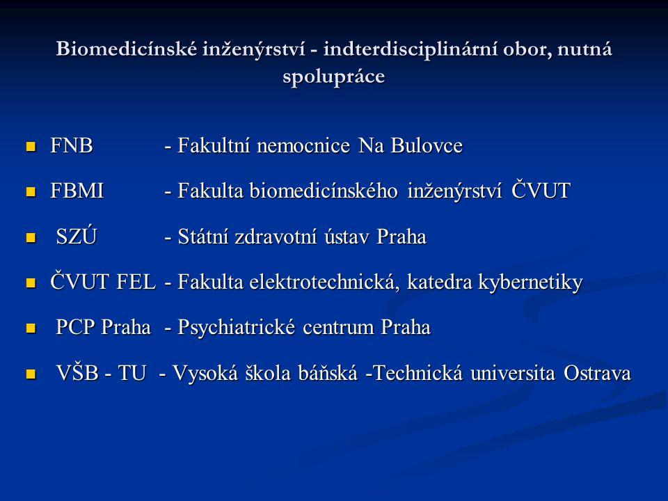 Biomedicínské inženýrství - indterdisciplinární obor, nutná spolupráce