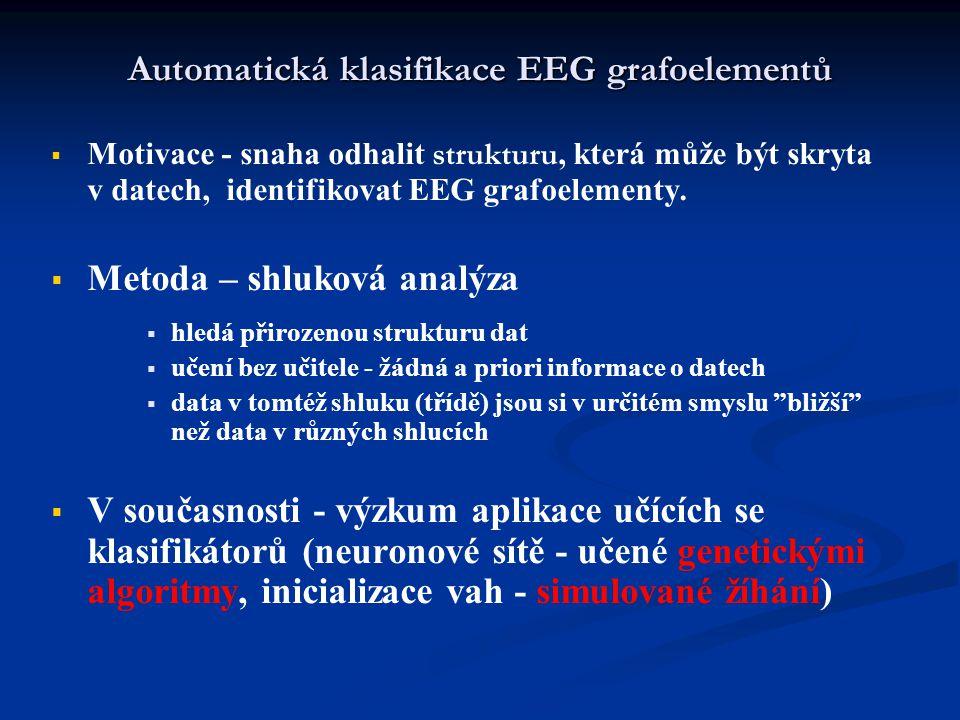 Automatická klasifikace EEG grafoelementů