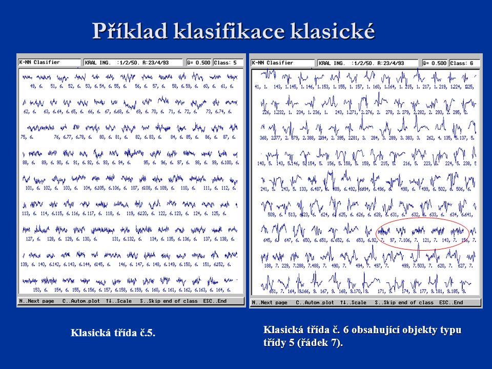 Příklad klasifikace klasické