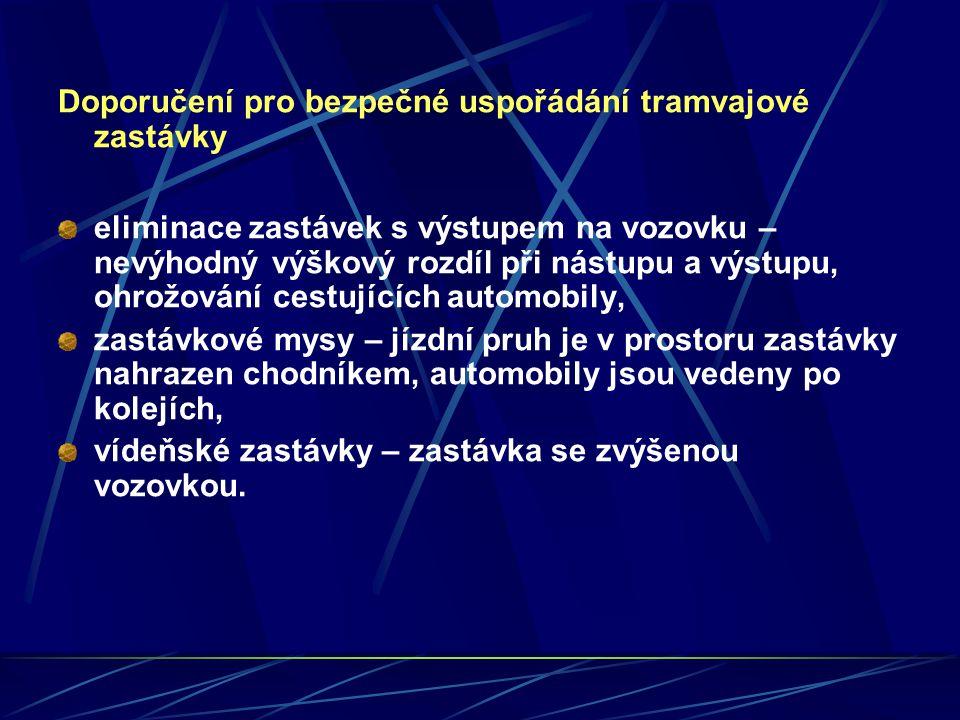 Doporučení pro bezpečné uspořádání tramvajové zastávky