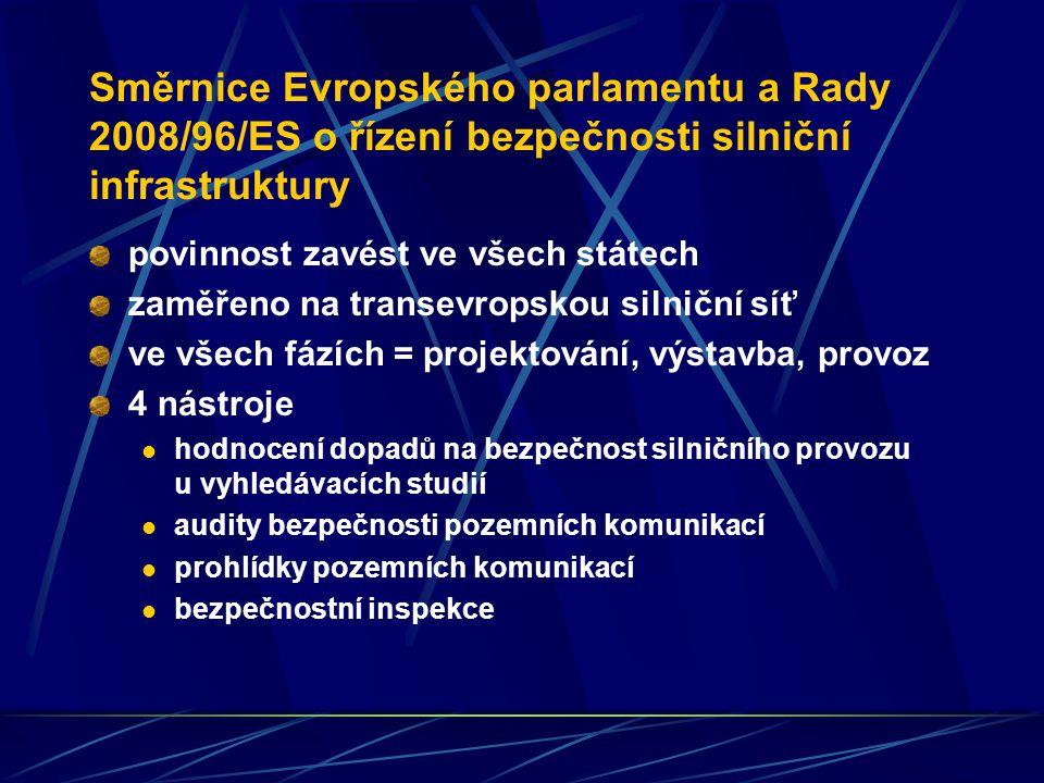 Směrnice Evropského parlamentu a Rady 2008/96/ES o řízení bezpečnosti silniční infrastruktury