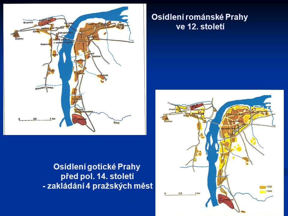 Osídlení románské Prahy ve 12. století