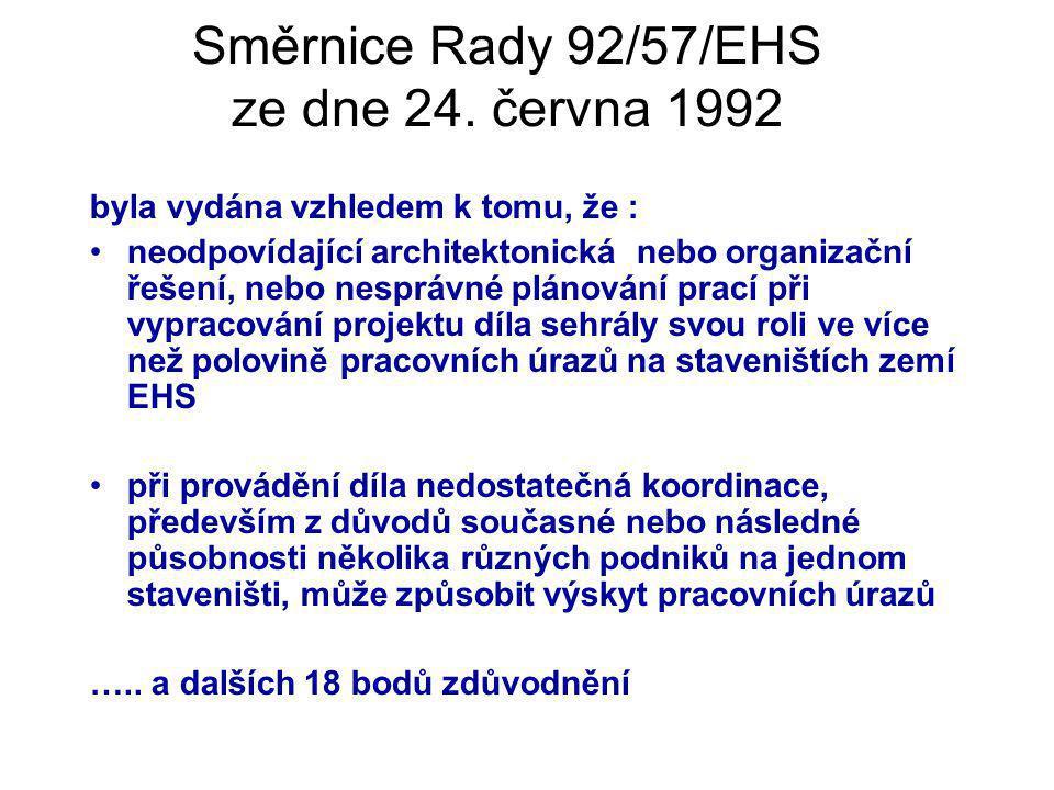 Směrnice Rady 92/57/EHS ze dne 24. června 1992