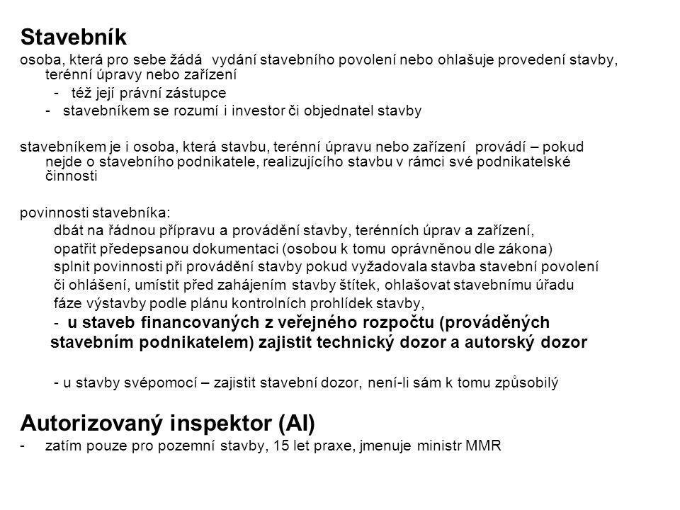 Autorizovaný inspektor (AI)