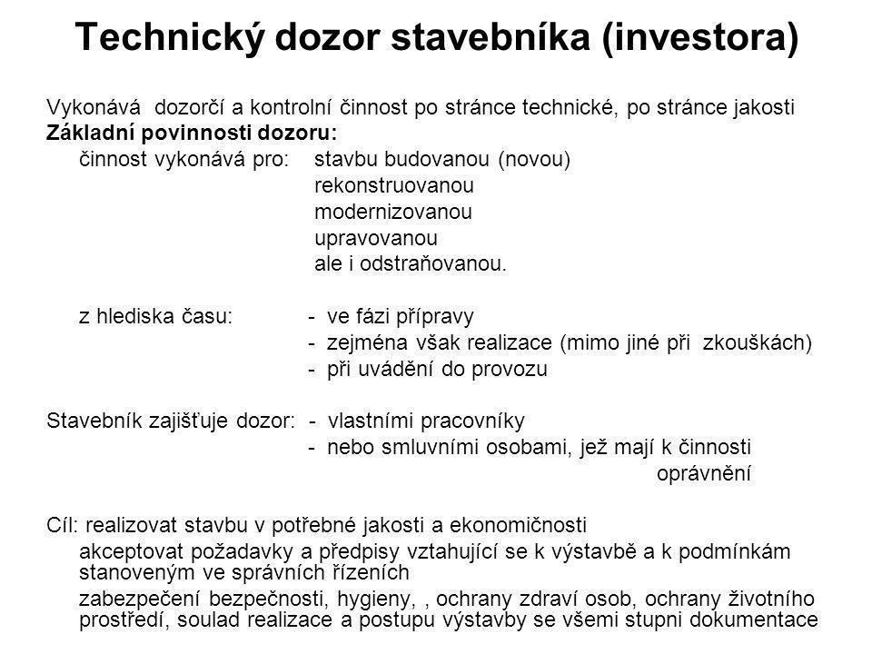 Technický dozor stavebníka (investora)