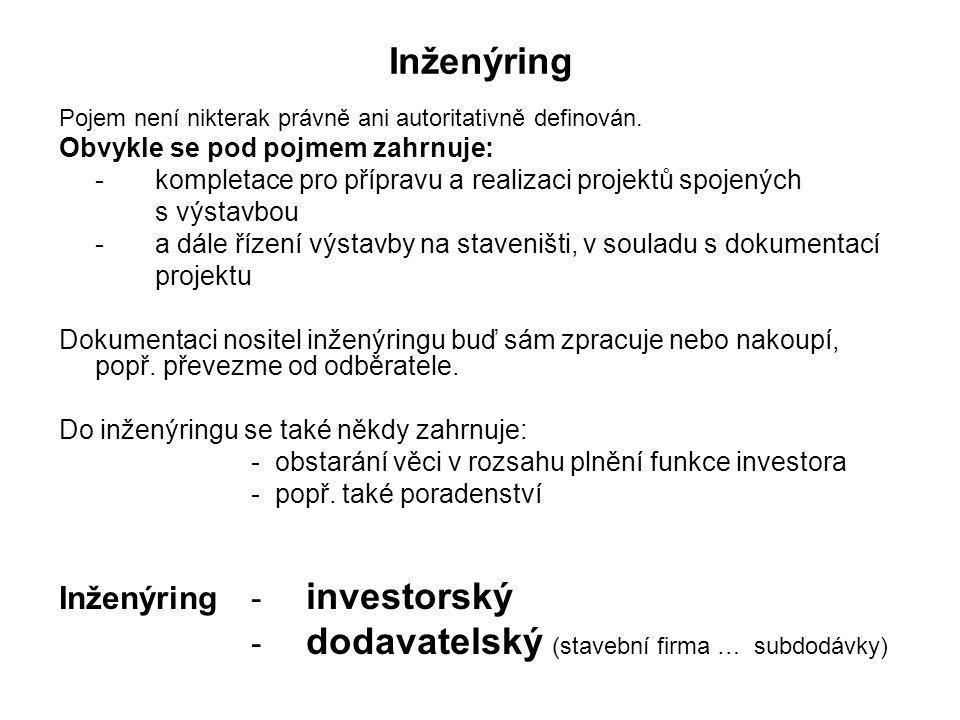 Inženýring Inženýring - investorský