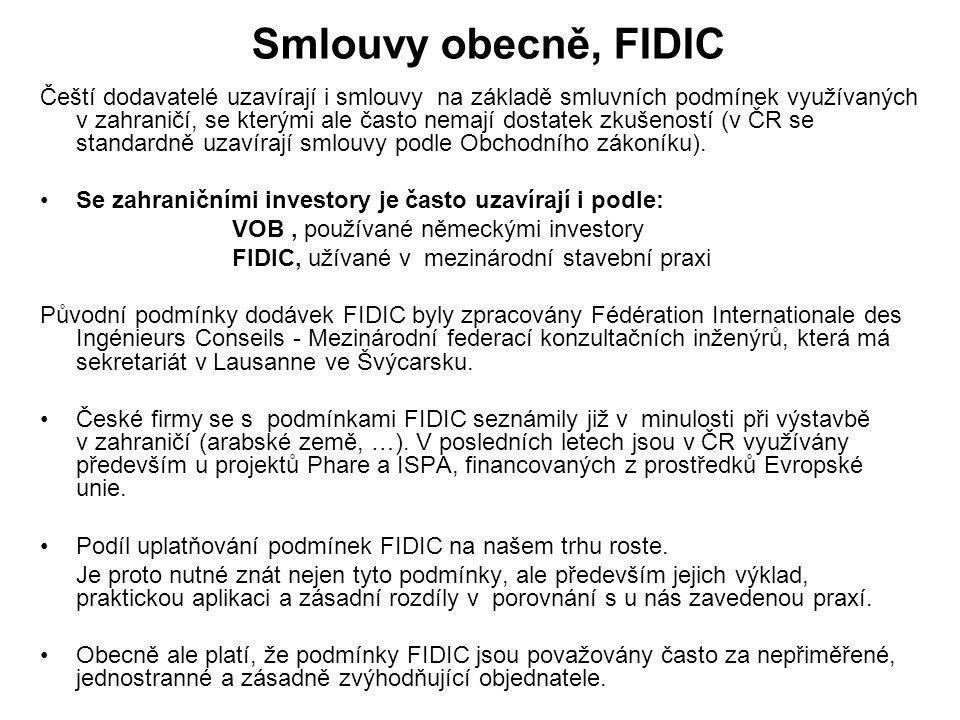 Smlouvy obecně, FIDIC