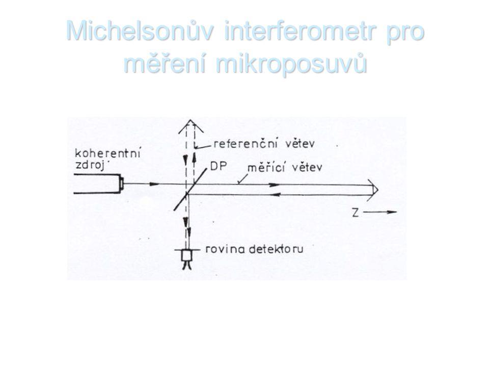 Michelsonův interferometr pro měření mikroposuvů