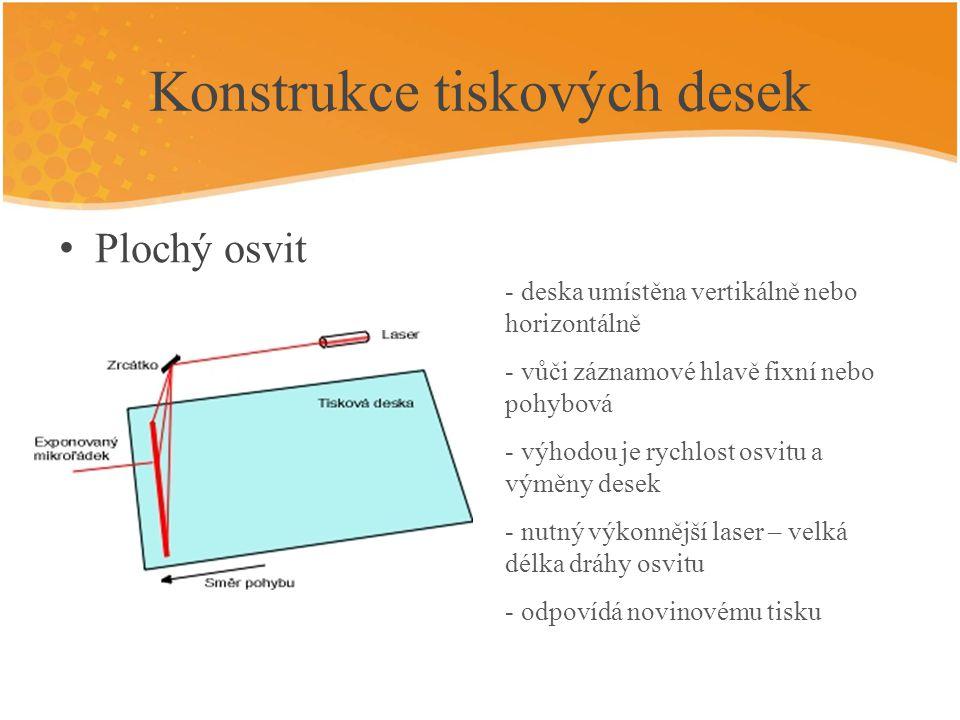 Konstrukce tiskových desek