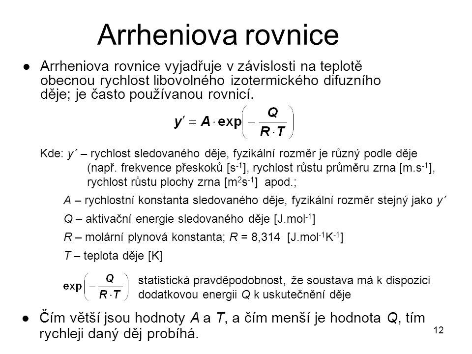 Arrheniova rovnice