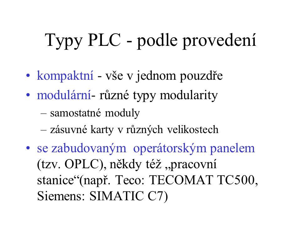 Typy PLC - podle provedení