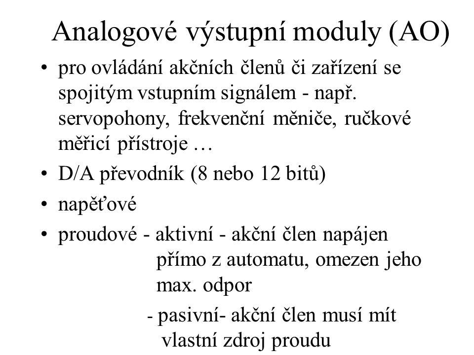 Analogové výstupní moduly (AO)