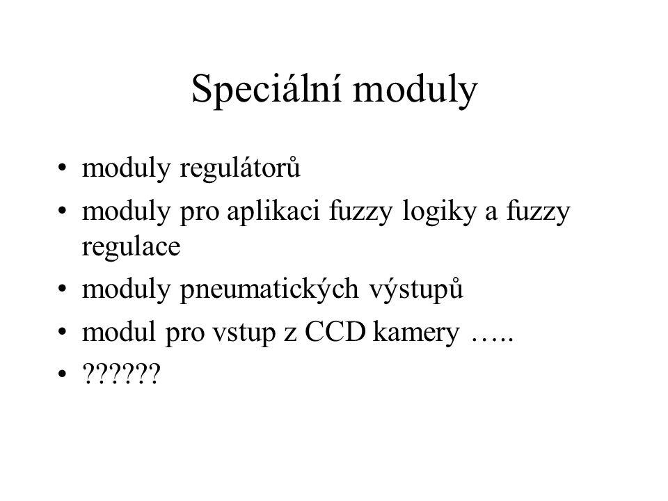 Speciální moduly moduly regulátorů