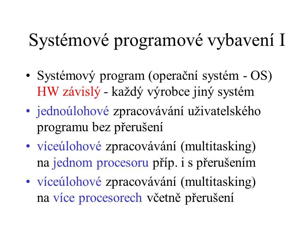 Systémové programové vybavení I