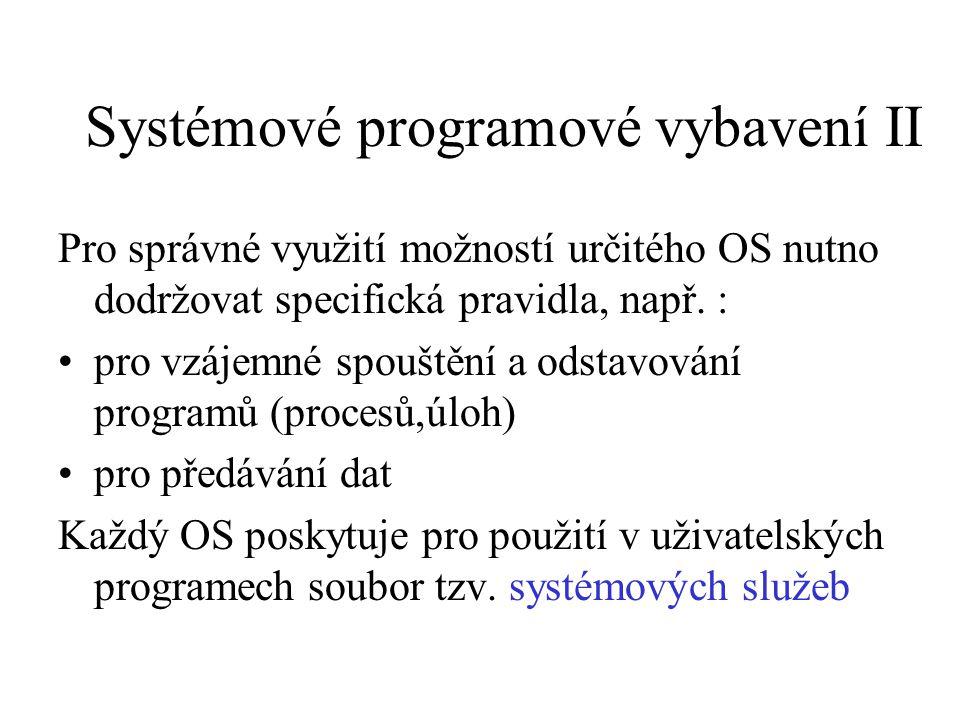 Systémové programové vybavení II