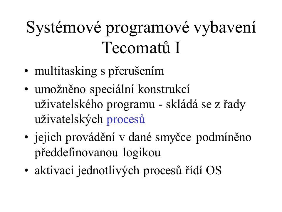 Systémové programové vybavení Tecomatů I