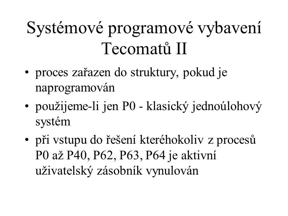 Systémové programové vybavení Tecomatů II