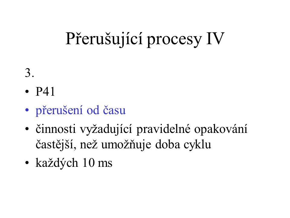 Přerušující procesy IV