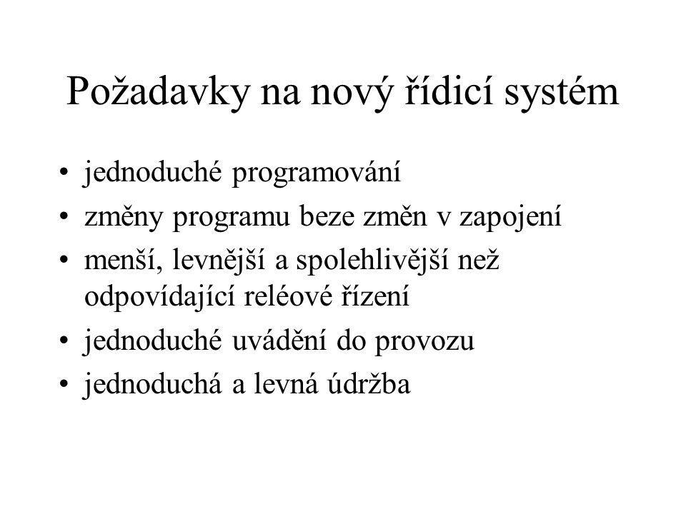 Požadavky na nový řídicí systém
