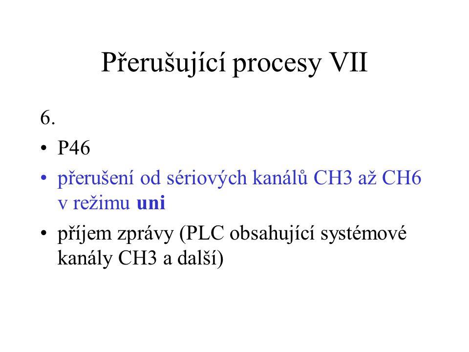 Přerušující procesy VII