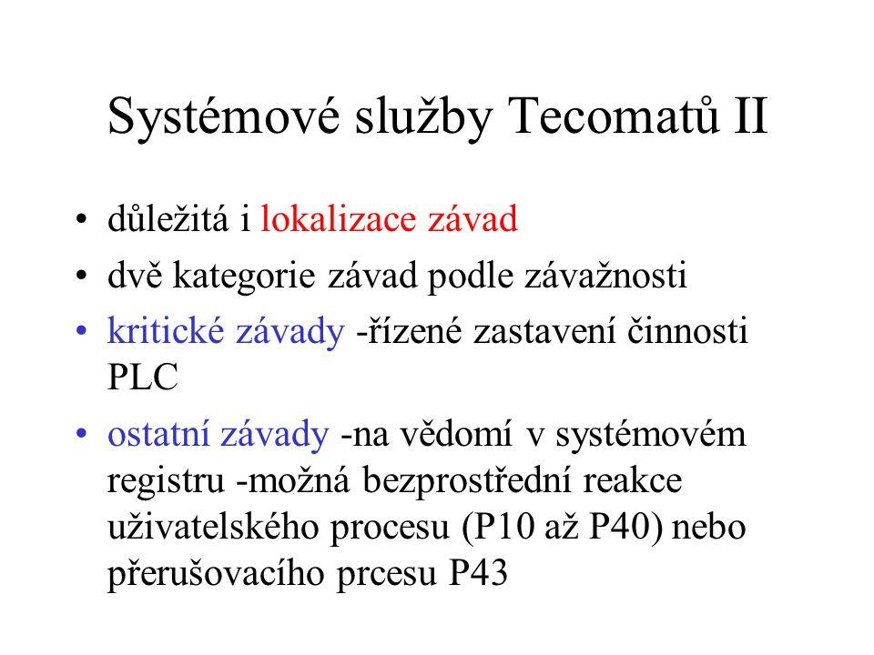 Systémové služby Tecomatů II