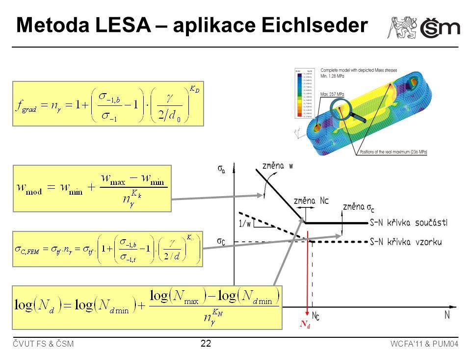 Metoda LESA – aplikace Eichlseder