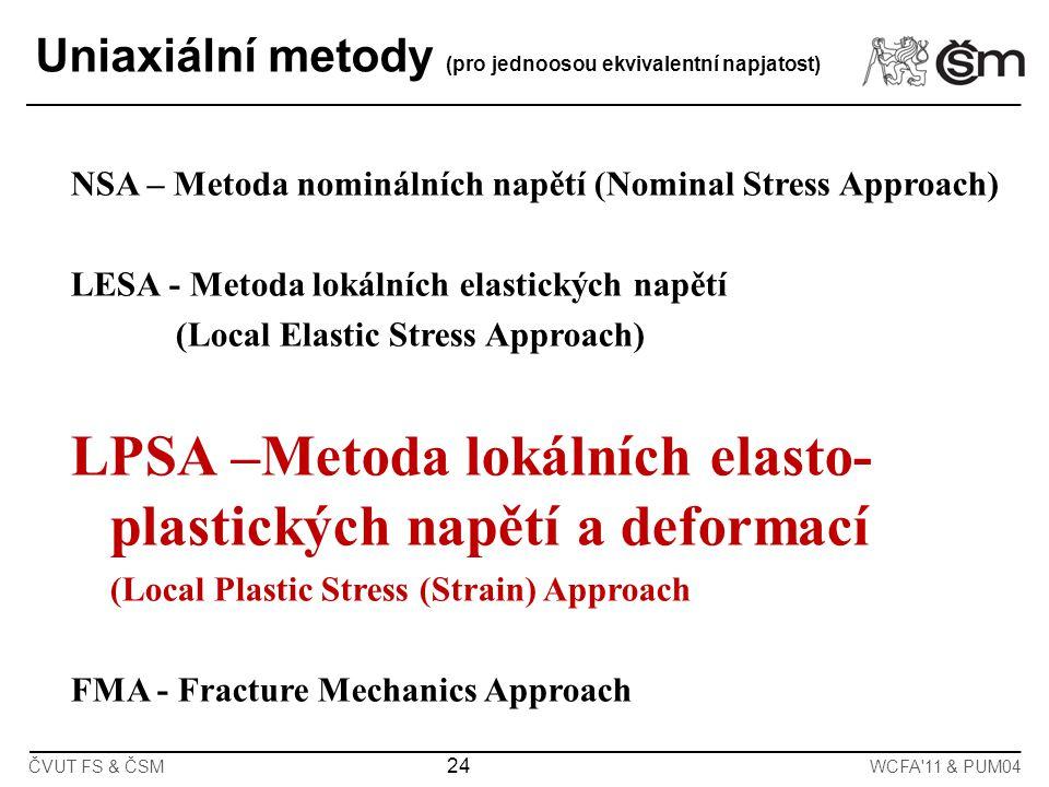 LPSA –Metoda lokálních elasto-plastických napětí a deformací