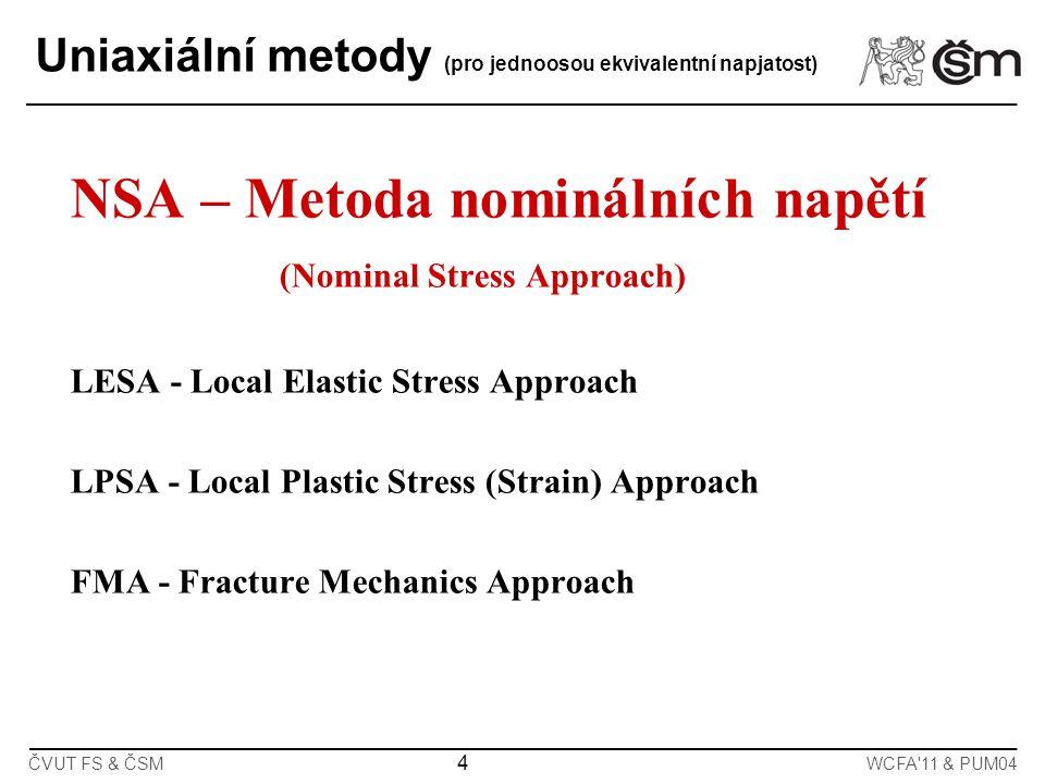 NSA – Metoda nominálních napětí (Nominal Stress Approach)