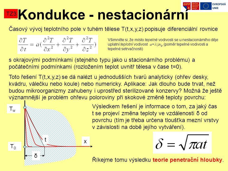 Kondukce - nestacionární