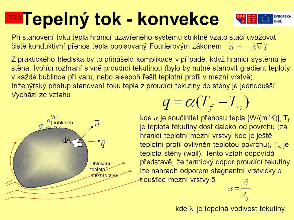 Tepelný tok - konvekce TZ3