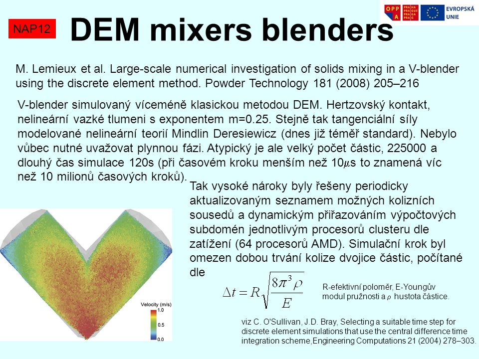 DEM mixers blenders NAP12