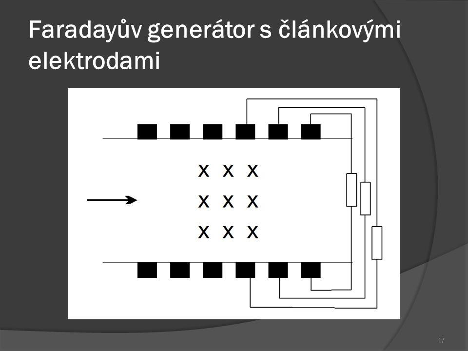 Faradayův generátor s článkovými elektrodami