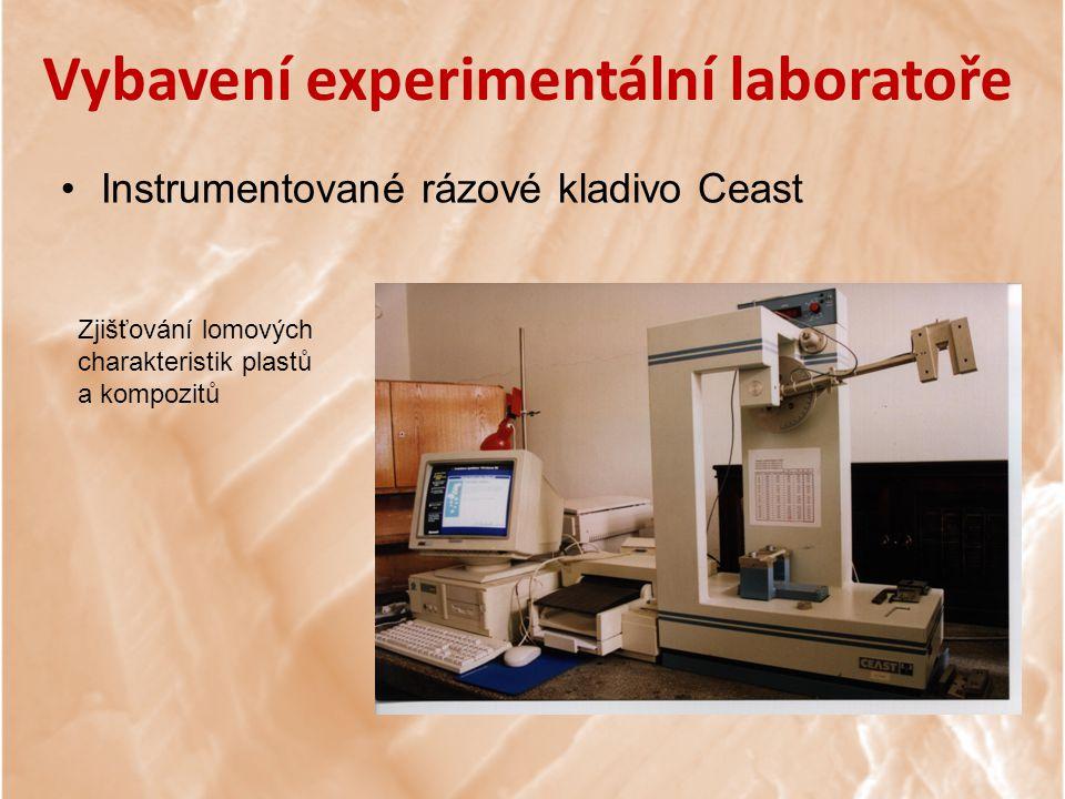 Vybavení experimentální laboratoře