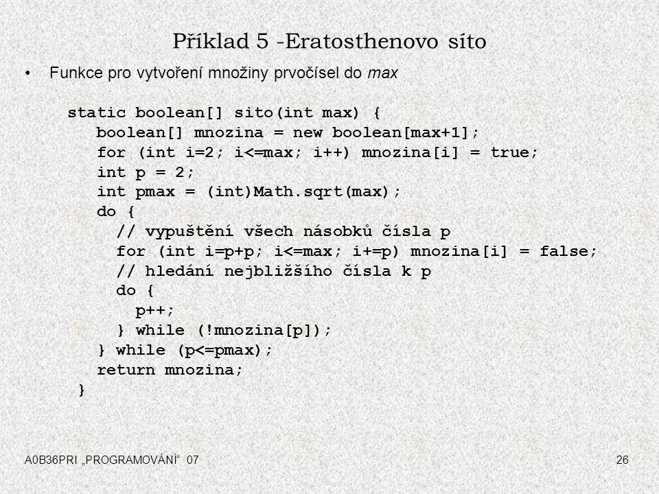 Příklad 5 -Eratosthenovo síto