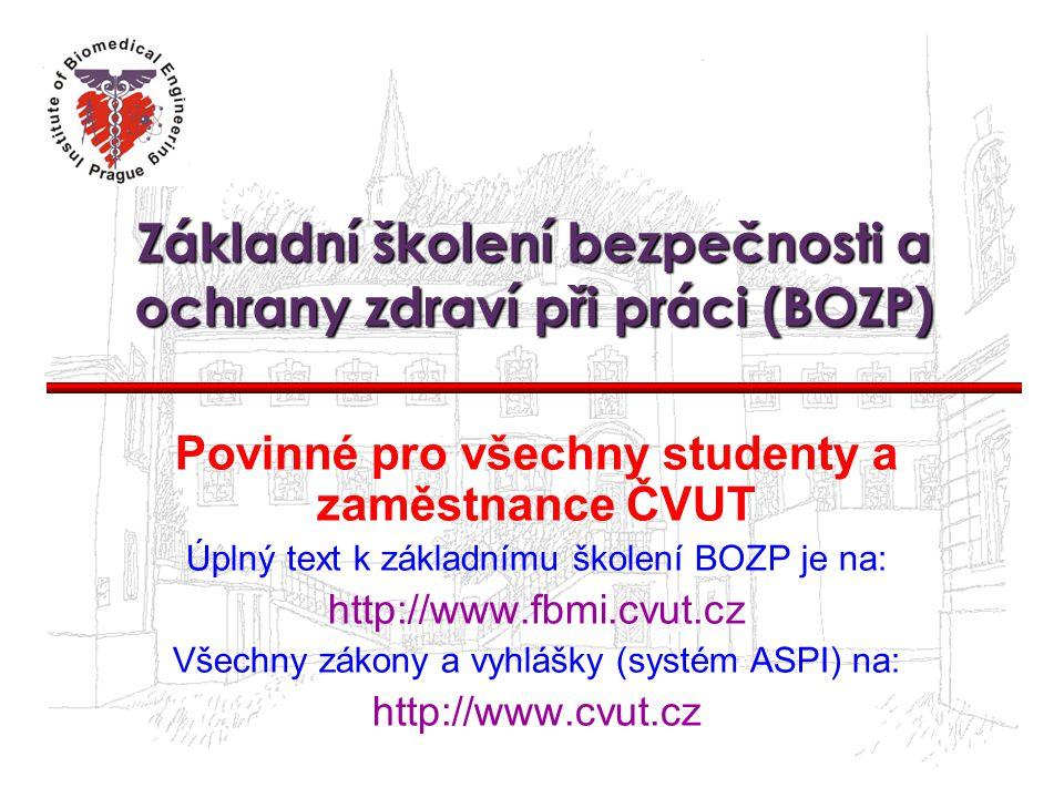 Základní školení bezpečnosti a ochrany zdraví při práci (BOZP)