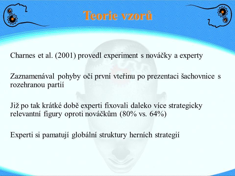 Teorie vzorů Charnes et al. (2001) provedl experiment s nováčky a experty.