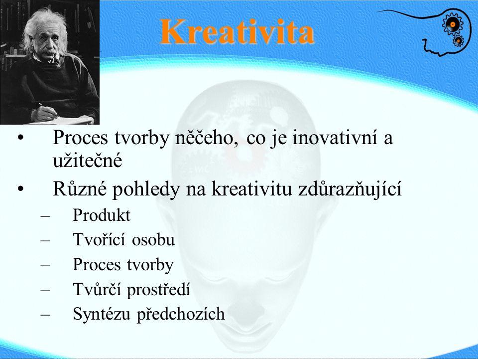 Kreativita Proces tvorby něčeho, co je inovativní a užitečné